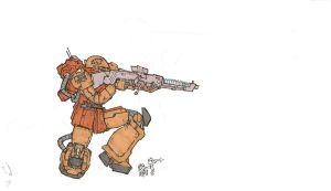MS05TS Zaku I Tactical Sniper by ChibiTheArbiter