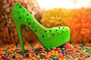 Green Candy Shoes by PhotoBySavannah