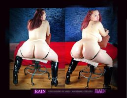 Rain Double Bottom Seated by AutomaticErotica