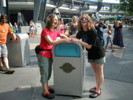 Oh noes a talking trash can by Kandiesquirrel