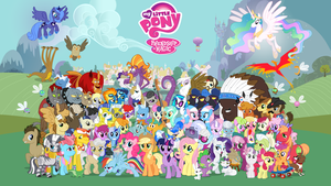 16:9 Comic Con Pony Wallpaper by PonyComicConPoster