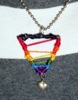 gay pride necklace by RaheHeul