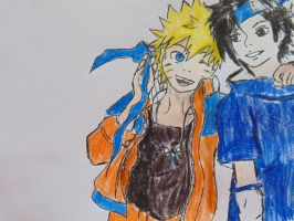 Naruto and Sasuke- Hey Brother- by pagesofmylife