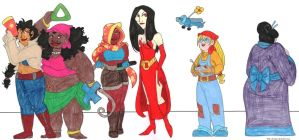 The (Human) Ladies of Sly Cooper by brensey