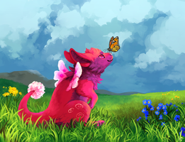 Meadow Greeting by Susiron