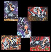 BLACK CAT ULTIMATE PERSONAL SKETCH CARDS by AHochrein2010