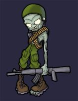 zombie soldier by cheesyniblets