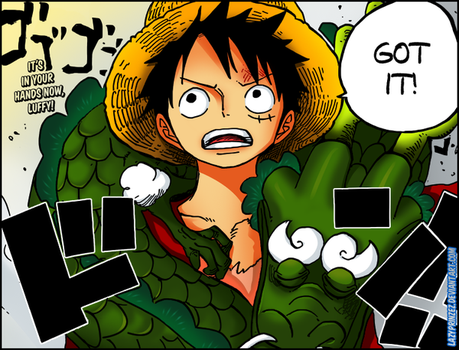 Luffy and Momonosuke (Dragon form) by LazyPrinzez