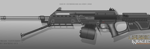 Fictional Firearm: HC-MG505 Centurion LMG by CzechBiohazard