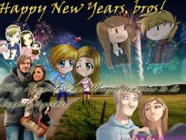 PewdiePie and Marzia: Happy New Years by ThatNekohacker