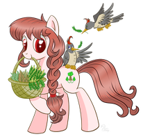 Evergreen Leaf OC by SwanLullaby
