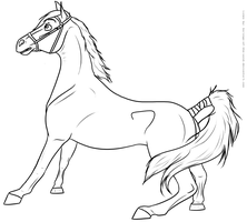 Free Lineart - Startled Mare by Baringa-of-the-Wind
