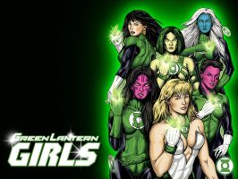 Green Lantern Girls by Superman8193