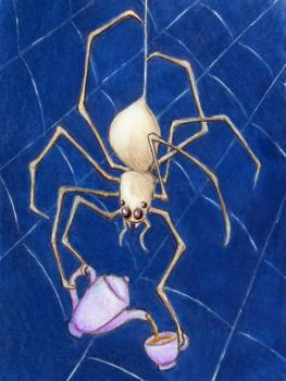 Tea Time Spider by tursiart