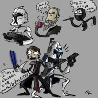 Clone Wars, season 3, Doodles by Ayej