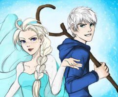 Elsa and Jack by Balhinha