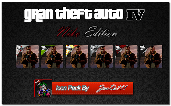 GTA IV Niko Edition Icon Pack by ZeroDs111