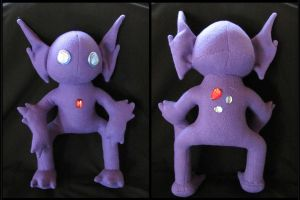 Sableye Plushie Commission by NocturnalEquine
