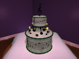 Band Nerd Cake by AgentDull