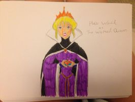 Holli Would as The Wicked Queen by EllentheApeGirl