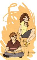 Rose and Hugo by MioneBookworm