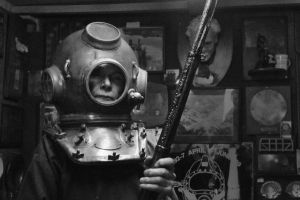 A sea diver/collector by Jessehkah-artiste