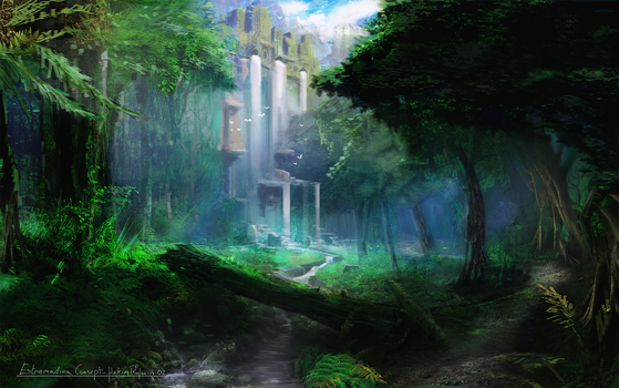 green forest by Kimraf