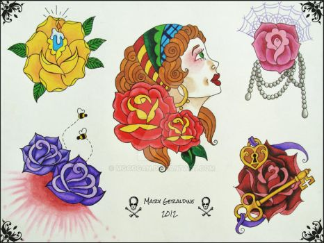 Roses Flash Sheet 2 by mgcogan
