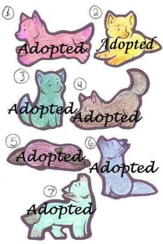 Wolf Pup Adoption 1 -CLOSED- by Kittypaws89