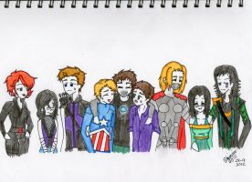 Avengers and friends by C4PNshota