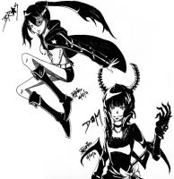 BRS and DM - inking practice by Limitless-Skye