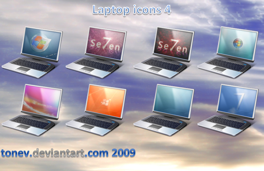 Laptop icons 4 by tonev