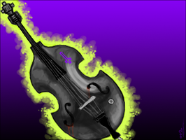 Speedpaint Upright Bass by SullysWiccanOrgy