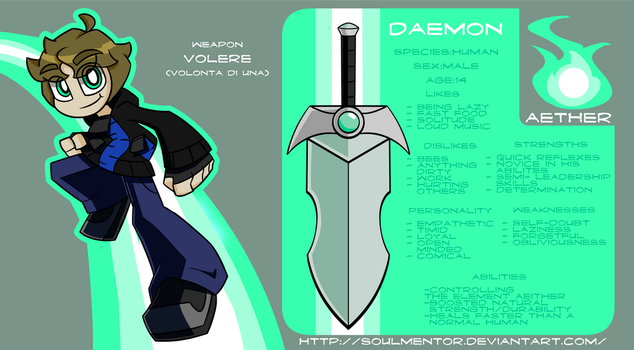 Daemon: Reffrence Card by Soulment