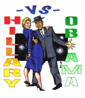 The Obama and Clinton Two Step by KirqArts