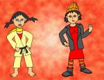 Spinelli and Makoto Outfit Swap by ArielKamikaze