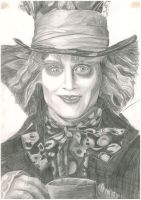 Portrait practice: Mad Hatter by snowny
