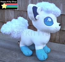 Ice Vulpix Plush by QueenBeePlush