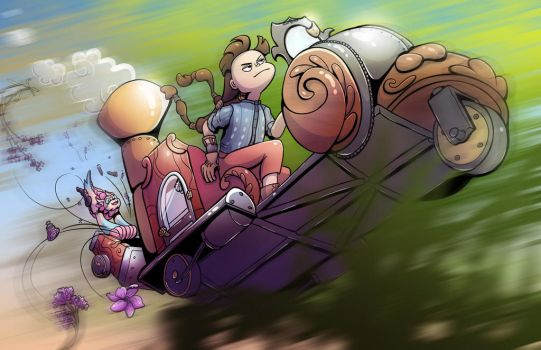 Vehicle Promotional Illustration by SleepyHeadKL