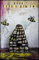 Bee Hive by justinaerni