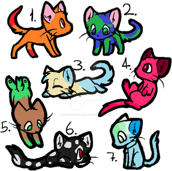 Kitten Batch #1 5/7 OPEN by ParagonPalace