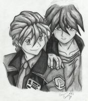 Heero and Duo by Chickster