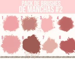 Pack de Brushes de manchas #2 :3 by ItWasJustAKiss