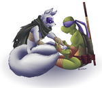 Donatello and Alopex by Shellsweet