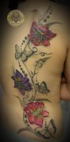 Butterfly Lily ready color by 2Face-Tattoo