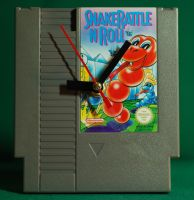 Snake Rattle N Roll NES Cartridge Clock by RickyVonReven