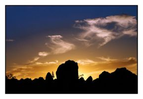Sunset at the Pinnacles by wolfmagus