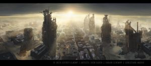 Matte paintings for musik-vide by sven-sauer