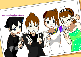 D.A sisters and cousin :3 by hetalia524