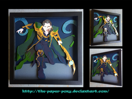 12 x 12 Loki Shadowbox by The-Paper-Pony